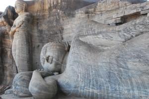 Reclining Buddha (Gal Vihara) at Polonnaruwa
