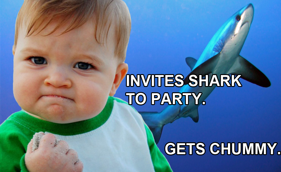 Success Kid Meme - Shark Birthday Party