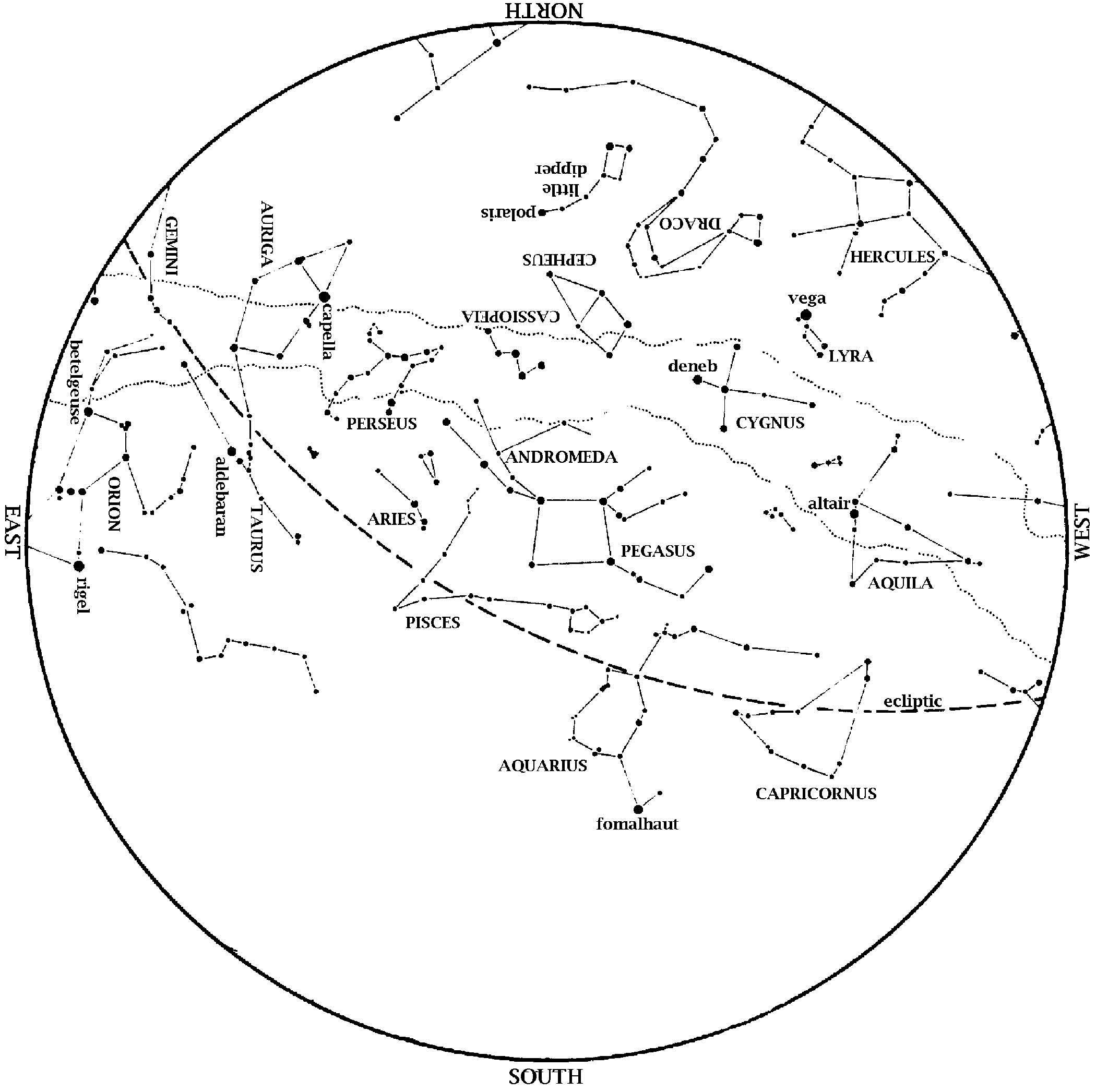 star map december