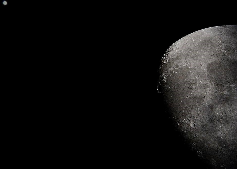 Ayın teleskopla görüntüsü